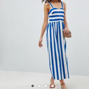 Asos striped linen dress